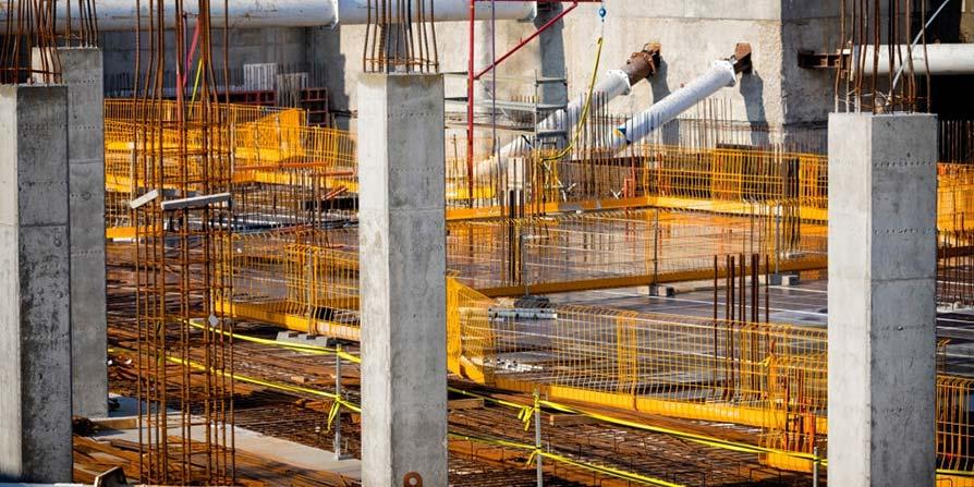 تصویر آرماتور بندی در سازه بتنی