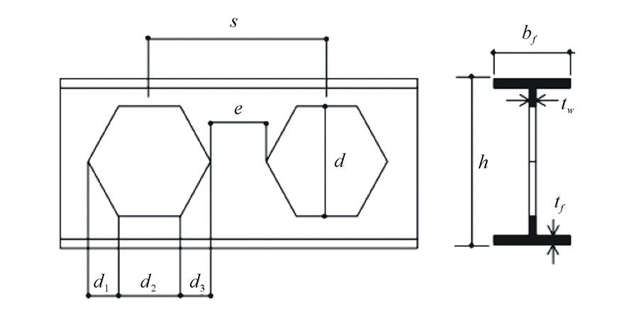 هندسه تیر آهن لانه زنبوری