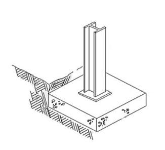 صفحات بتونی تقویت شده برای پایه سازه های فلزی