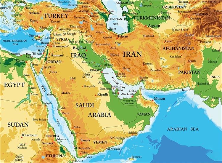 نقشه ایران و موقعیت مکانی آن برای صادرات میلگرد