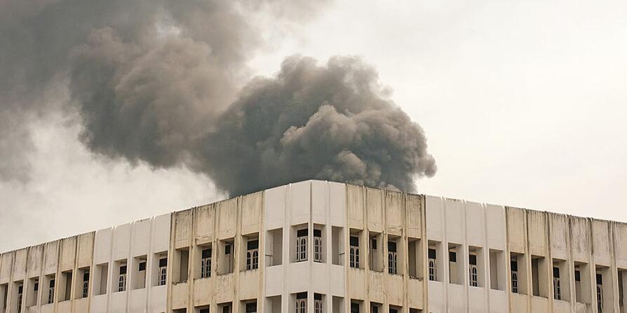 تصویر مقاومت سازه بتن آرمه در برابر آتش سوزی