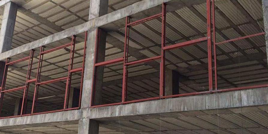 تصویر وال پست در سازه بتن آرمه