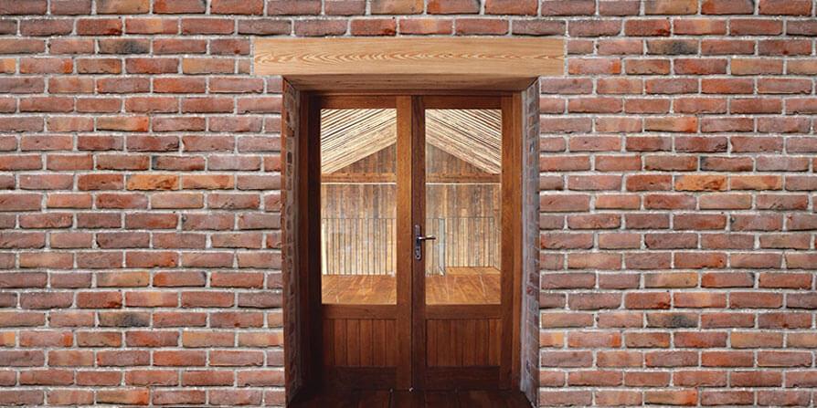 تصویر نعل درگاه چوبی