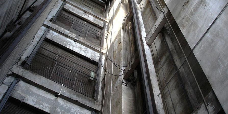 تصویر آهن کشی آسانسور