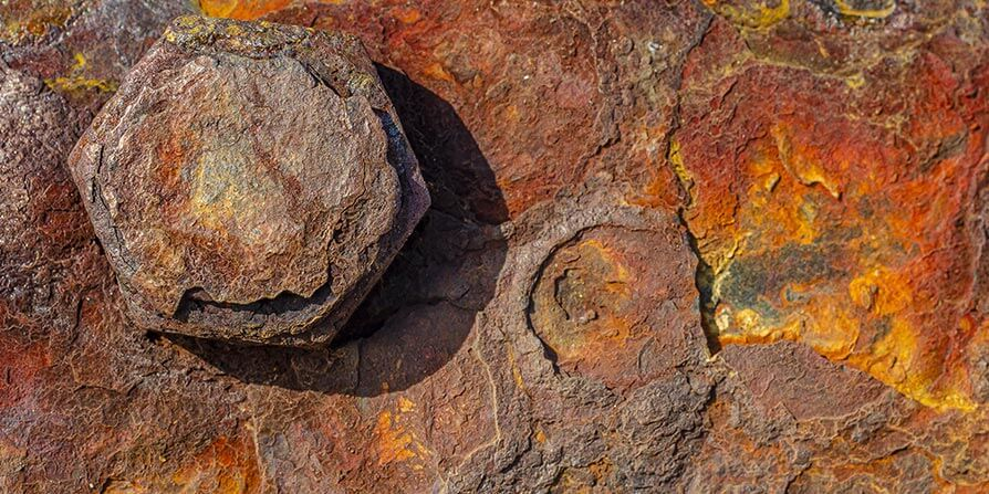تصویر خوردگی سطح فولادی