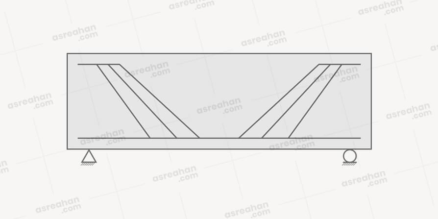 تصویر فولاد طولی خم شده با زاویه 45 درجه