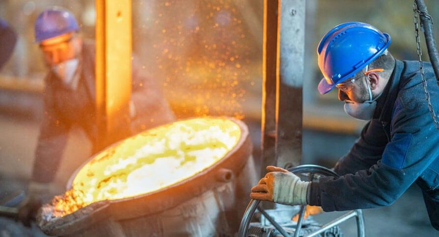 تصویر مراحل ساخت میلگرد فولادی