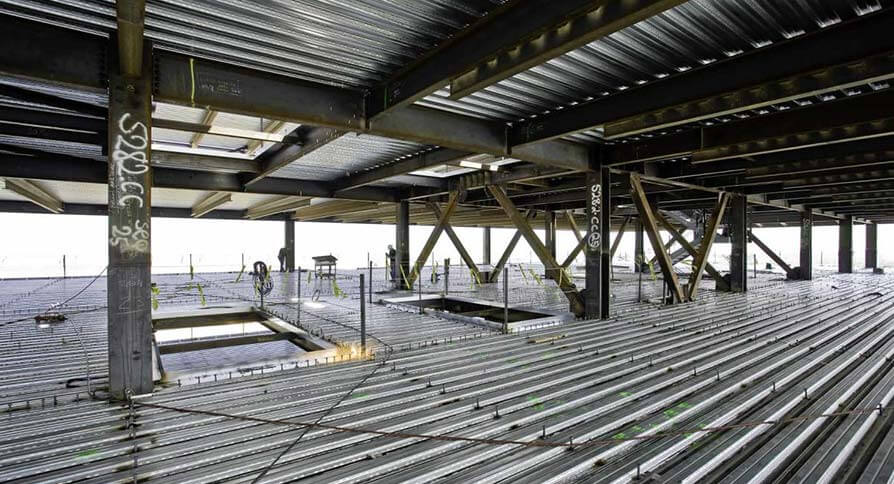 تصویر سقف عرشه فولادی